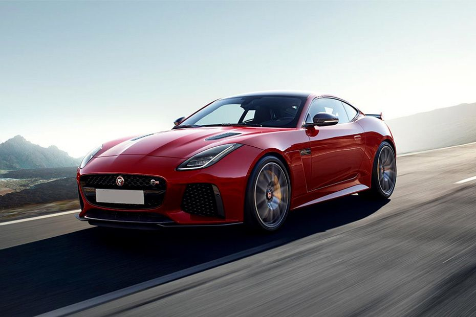 F-Type Front angle low view