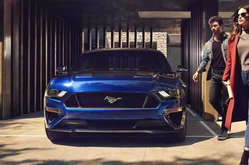 Full Front View of Mustang