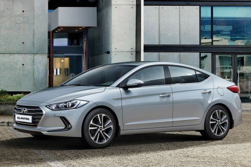 Elantra Front angle low view
