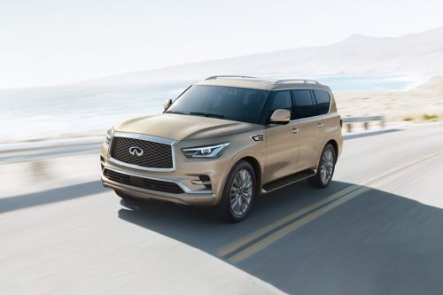 QX80 Front angle low view